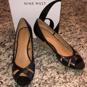 Nine West Jumbalia Wedge- Black